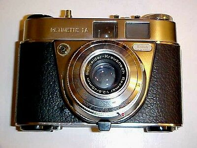 Vintage Kodak Retinette 1A 35mm Camera Cica 1960s w/ Case VG Working Cond - L@@K