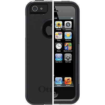 iPhone 5S/5/SE Otterbox Commuter Case 100% Original Black Cover Screen Protector