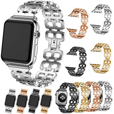 New Stainless Steel Wrist Bracelet Clasp for Apple Watch iWatch Band 38mm/42mm @