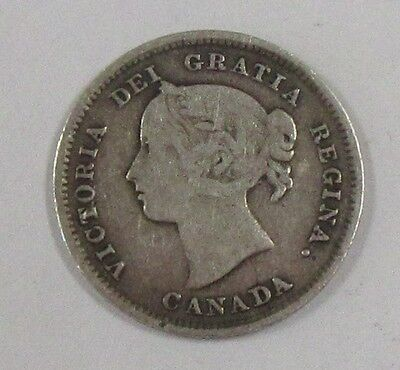 1885 Canada Silver Nickel Better Date! * Old Canadian 5 Cents
