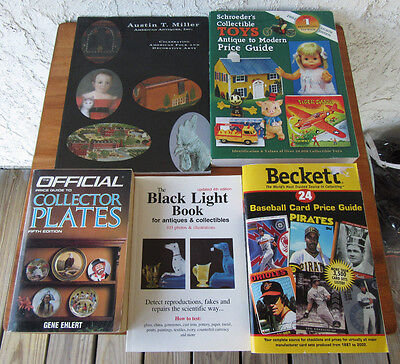 Antiques & Collectibles Identification Book Lot of 5 Toys Plates Baseball more