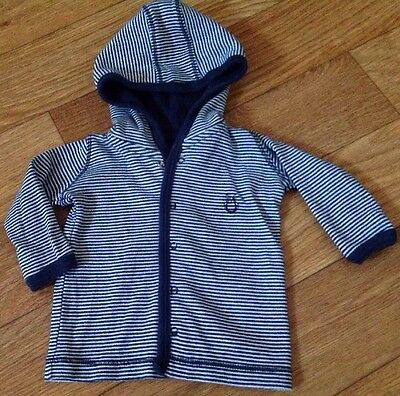 Cotton On Kids Baby Boy Size 000 Blue Winter Hoodie Jacket Top Blue  As New ⭐️