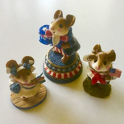 "Wee Forest Folks ""Uncle Sammy and 4th of July Mice"""