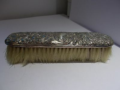 antique silver clothes brush