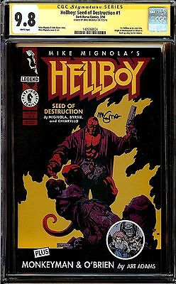 HellBoy Seed of Destruction #1 25th Anniversary Signed by Mike Mignola CGC 9.6