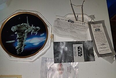 STAR WARS COLLECTOR PLATE Space Vehicles MEDICAL FRIGATE New