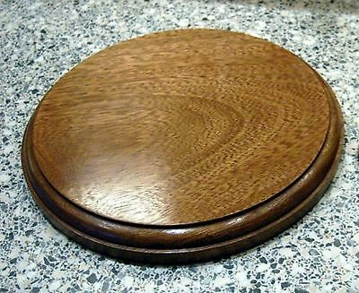 Round  Plinths for Models, Trophies, Figurines, SOLID  MAHOGANY 5 sizes (OV)