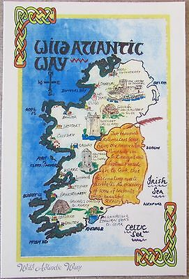 Five Map Postcards Of Ireland