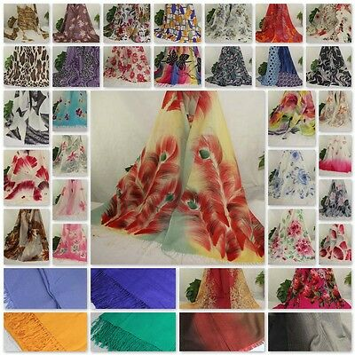 New Women 2 ply Hand Painted Cashmere Wool Blend Soft Warm Wrap Shawl Scarf 002
