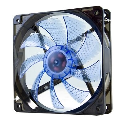 Nox Ventilador Caja Cool Fan 12cm Led Azul