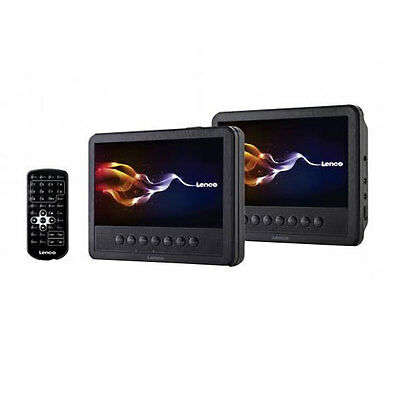 "Lenco MES-212 7"" twin Portabler DVD-Player mit LCD Display AV USB 2.0"
