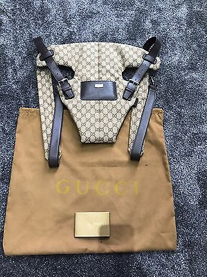 Gucci Baby Carrier Brown GG Monogram Canvas