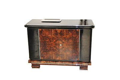 Burl Wood Commode from the Art Deco Era