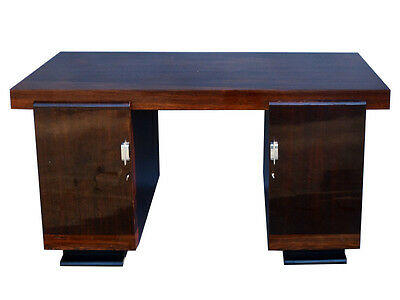 Francis Jourdain Style Walnutwood Desk from the Art Deco