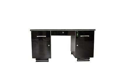 Black Art Deco Desk from France