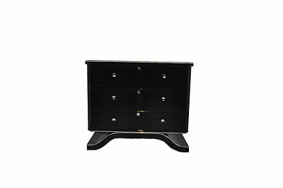 Art Deco Commode with a Curved Foot in Highgloss Black