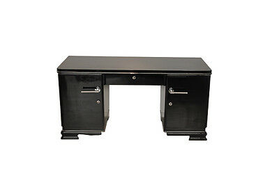 Black Art Deco Desk