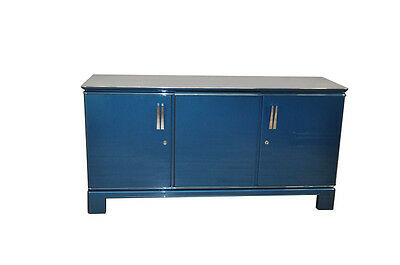 Art Deco Sideboard Metallic Blue