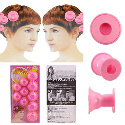 10x Silicone Hair Curler Hair Care DIY Roll Hair Style Roller Curling tool CN