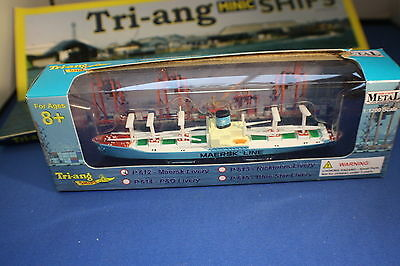 Maersk Lines Cargo Ship from Triang MInic Ships.P615 Boxed 1200 scale