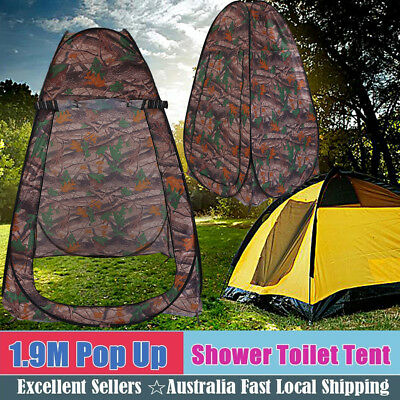 New Folding Pop Up Camping Shower Toilet Tent Shelter Camouflage Convenience AU