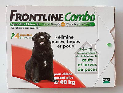 Frontline   Combo  Spot  On  Chien  Xl - Plus  De  40 Kg - 4 Pipettes