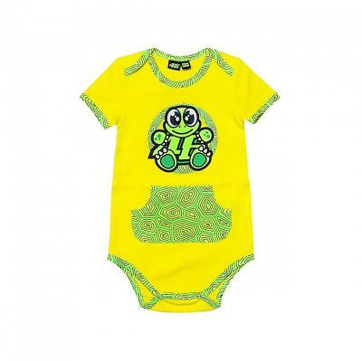 Official VR46 Valentino Rossi Cotton Turtle Classic Baby Body Suit - Yellow