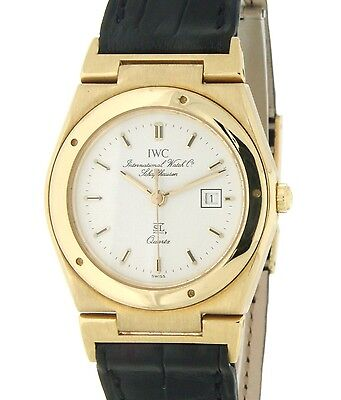 Iwc INGENIEUR 4509 SL Lady 30MM YELLOW GOLD LEATHER 4509