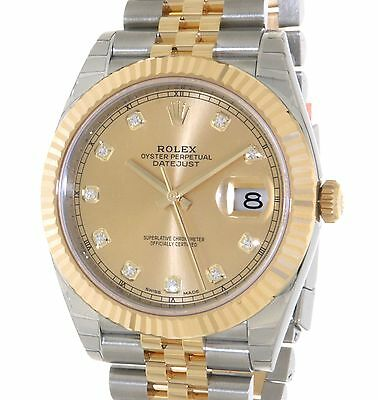 Rolex DATEJUST II 126333 IN GOLD AN STEEL WITH DIAMOND, 41MM 126333