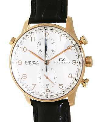 Iwc PORTOGHESE CHRONO RATTRAPANTE IW371203 RED GOLD, LEATHER IW371203