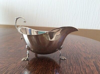 Birmingham Solid Silver Clawed Feet Sauce Boat maker A.S Weight 122g