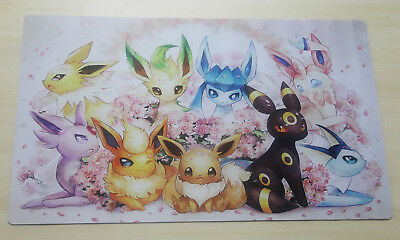 E796 FREE MAT BAG Eevee Eevolution POKEMON Trading Card Game Playmat TCG Mat