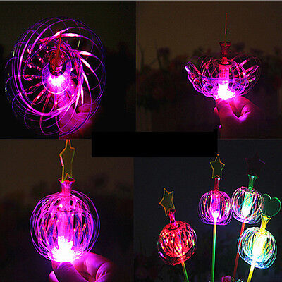 Creative Flashing Light Up Wand Wedding Party Magic Spinner Toy Dress Up Costume