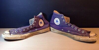 Vintage USA-MADE Converse All Star Chuck Taylor PURPLE 1970's Size 9 1/2