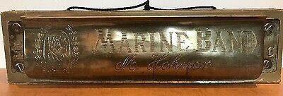 Large Antique M Homer Marine Band Harmonica Trade Sign Store Display1960s