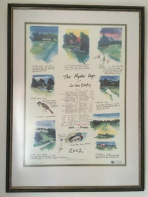 Limited Edition Framed Ryder Cup Print By Harold Riley
