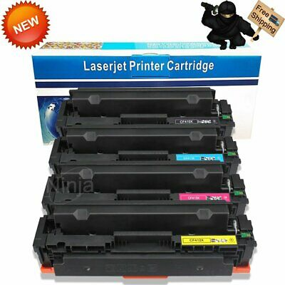 4 Pack High Yield CF410X Toner Cartridge For HP LaserJet M452dw M477fnw M477fdw