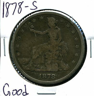 1878-S $1 Silver Trade Dollar in Good Condition
