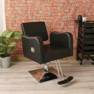 Professional Black Stylish Barbers Chair Beauty Hair Dresser Salon Chrome