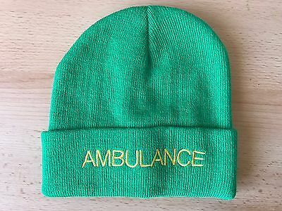 AMBULANCE Beanie / Woolly Hat (GREEN) for Paramedic St John Medic EMT 999 Nurse