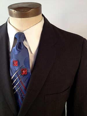 Vintage 50s Two Piece Suit w/Rounded Lapel by Sears Size 40S Jacket 35x25 Pant