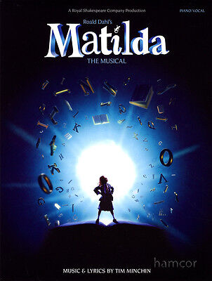 Roald Dahl's Matilda The Musical Piano Vocal Guitar Sheet Music Book Tim Minchin