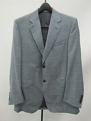 Canali Men's Black/White Houndstooth Plaid Blazer Jacket Size 50 Made in Italy