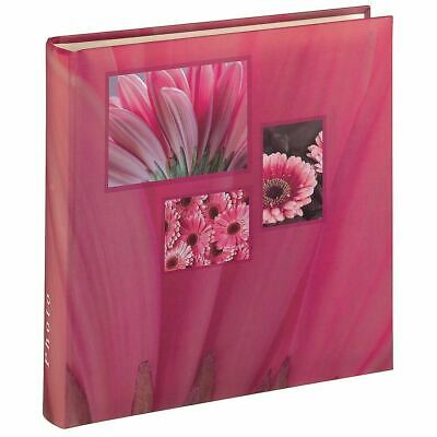 Large Pink Flower Photo Album Case Book 100 Pages for 6 x 4 '' Photos