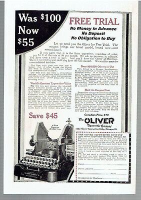 Vintage, Original, 1922 - Oliver Typewriter Advertisement - Office