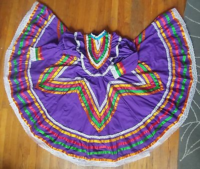 Mexican Folkloric Jalisco Style Dress,Jr. Size