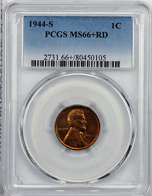 1944-S PCGS MS66+RD Lincoln Cent