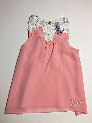 Toddler Girls Guess Pink Sleeveless Top (Size 3T)
