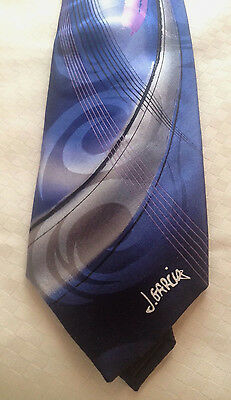 Jerry Garvia Tie 36/300 Rich Blue Abstract (lady W/Argyle Socks)