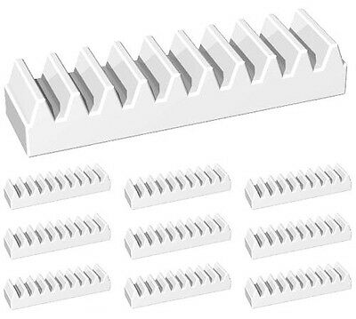 LEGO Technic NEW 50 pcs WHITE GEAR RACK Mindstorms NXT Robotics Part Piece 3743